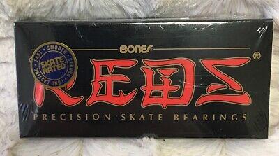 Bones Reds Precision Skateboard Bearings 8-Pack Standard Sealed NEW Free S/H!