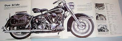 HUGE! HARLEY DAVIDSON DUO GLIDE POSTER picture print bike motorcycle