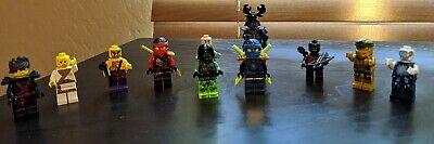 Lot 11 LEGO Ninjago Ninja Mini Figures and other mini figured Please view Pics