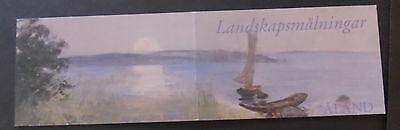 Aland 2003 Landscape in summer painting SG229/32 booklet MNH UM unmounted mint