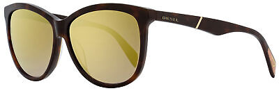 Diesel Oval Sunglasses DL0221 52G Dark Havana  59mm 221 for sale  Shipping to India