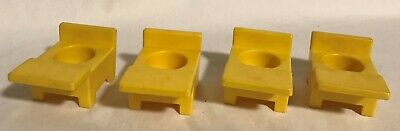 Fisher Price Little People Vintage School House Lot of 4 YELLOW DESKS