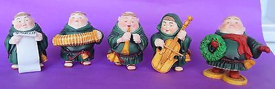 Dept 56 Merry Makers Sidney And Musicians + Snowshoe Monk- Lot Of 5 - No Boxes