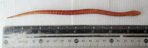 Old Nagaland Tribal Bone Hairpin Snake Design HANDMADE