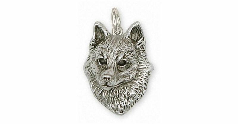 Schipperke Jewelry Sterling Silver Schipperke Charm Handmade Dog Jewelry SK-C