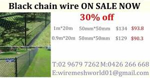BLACK PVC Coated ChainLink 1.8m*10m*50mm*50mm*3.3mm Arndell Park Blacktown Area Preview