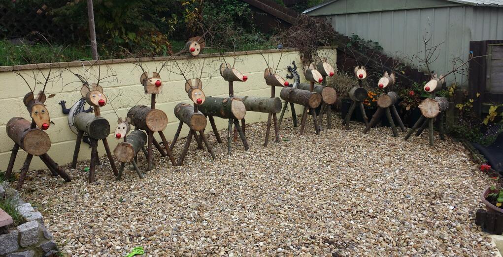 Christmas Log Reindeers In New Inn Torfaen Gumtree