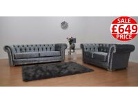 BRAND NEW CHESTERFIELD 3 + 2 SOFA SET - FAST FREE U.K DELIVERY