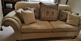 Large 3 seater sofa in an attractive neutral colour