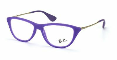 NEW AUTHENTIC RAY-BAN RB 7042 5470 Rubber Demi Gloss Violet Cat-Eye Frame 54mm