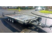 BRIAN JAMES 3500KG TRI AXLE LOW LOADER CAR AND COMMERCIAL TRANSPORTER TRAILER ** NO VAT **
