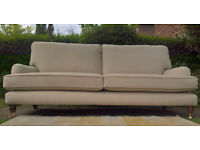 A New Cumbrian Cream 3 Seater Grand Settee ( Hand-Crafted in Britain )