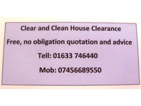 Profesional House Clearance and rubbish removal Newport South Wales. Free Quotations