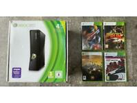 Xbox 360 boxed console and Need For Speed games