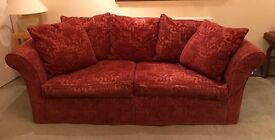 Large wine coloured Sofa Bed / Removeable Covers /Arighi Bianchi