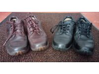 2 X PAIRS OF MENS GORTEX CLARKS SHOES BROWN/BLACK UK SIZE 8