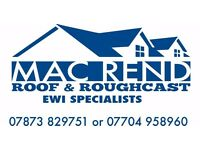 Mac Rend Roughcast/Roofing/External wall insulation specialists,Will beat any price guaranteed