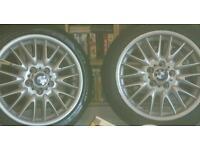 "Set of 17"" bmw mv1 wheels. Good condition."