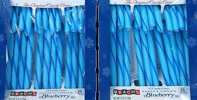 es 'Blueberry' Zuckerstangen 24 Stück = 340gr aus USA (Brach Candy)