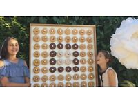 Top quality beautiful donut wall hire £20 wedding party birthday celebration display prop