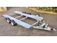 Woodford Lightweight twin-wheel car transporter trailer