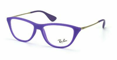 RAY BAN WOMEN AUTHENTIC CAT EYE MATTE PURPLE EYEGLASSES RB 7042 5470  52-14 (Cat Eye Ray Ban Eyeglasses)