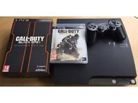 Sony PS3 Slim 160GB with 2 COD games