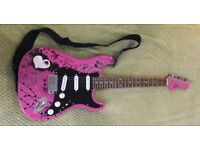 Jaxville Pink Girls Electric Guitar Stratocaster Style