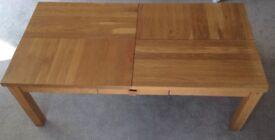 Solid wood, beech, lounge table set x3.