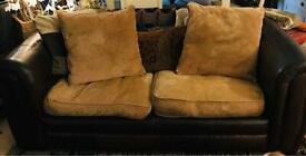 2 Seater Real Leather Sofa