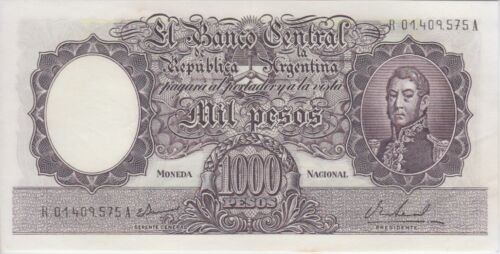 Argentina Banknote P279br C539R-575A 1000 Pesos Sig Ianella-Real Replacement, AU