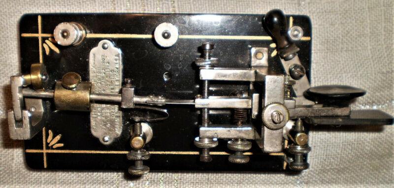Refurbished 1912 Vibroplex Original, S/N 20756