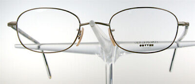 OLIVER PEOPLES 635 Brille Brillengestell Gold Metall Damen Herren Oval NEU