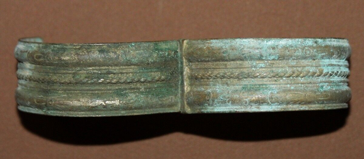 Antique Greek Orthodox folk silver cuff bracelet