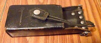 Oem Motorola Portable Radio Leather Holster Case Ht600 Mt1000 P200 Mtx800 Mtx900