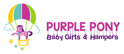 PURPLE PONY BABY GIFT AND HAMPERS
