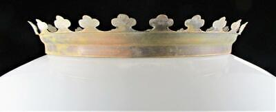Antique Brass Crown Shade Ring Victorian Kings Crown Hanging Lamp 6 1/4
