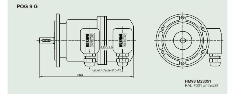 HÜbner Zwillingsgeber Pog9g Hubner Twin Encoder Pog 9 G Dn1024 I ; Pog9gdn1024i