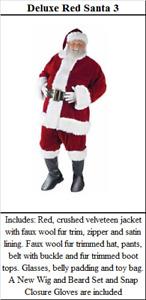 Santa Suit and Mrs. Claus Dress