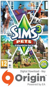 THE SIMS 3 PETS EXPANSION PACK PC AND MAC ORIGIN KEY