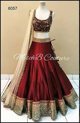 Bollywood Ethnic Designer Saree Wedding Wear lehenga Sari Indian Pakistani Choli