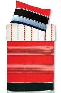 new Twin Single Tommy Modern Duvet Cover Set, RED-BLUE-WHITE