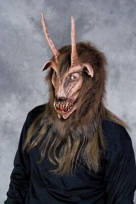 HALLOWEEN ADULT HORNED GOAT  MASK PROP ](Halloween Goat Horns)