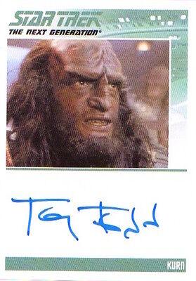COMPLETE STAR TREK TNG SERIES  2 - AUTOGRAPH Tony Todd as Kurn