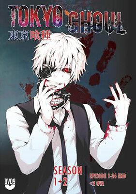 Dvd Tokyo Ghoul Season 1  2 Vol  1   24 End   2 Ova With English Audio Uncut