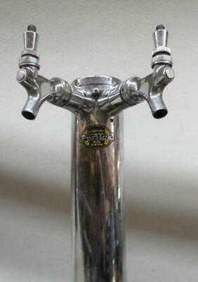 Perlick Century Beer System Twin Faucet Tap Tower Tapper Dual Double Bar