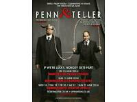 2 x Penn and Teller tickets STALLS row X