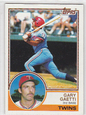 Gary Gaetti Twins Rookie Card Topps 1983 #431