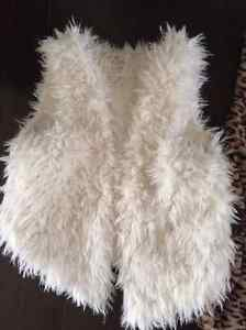 Cool Fuzzy Vest - LIKE NEW! Will fit child from maybe 6-11 year