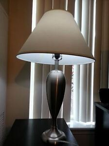 2 Stainless Steel Table Lamp - $79 Or Best Offer
